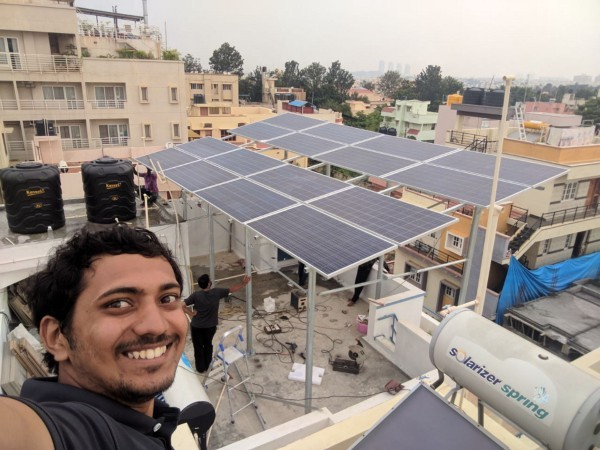 solar engineer rooftop
