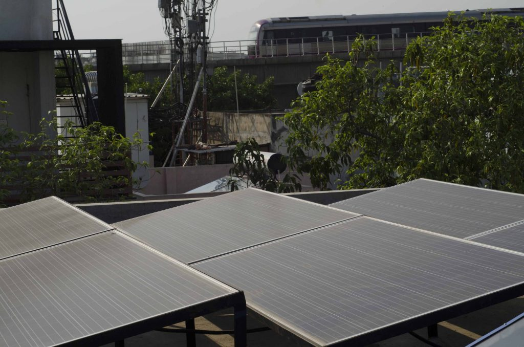 rooftop solar and metro rail